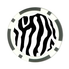Zebra Horse Skin Pattern Black And White Poker Chip Card Guards by picsaspassion