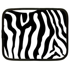 Zebra Horse Skin Pattern Black And White Netbook Case (xxl)  by picsaspassion
