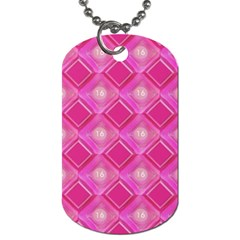 Pink Sweet Number 16 Diamonds Geometric Pattern Dog Tag (two Sides) by yoursparklingshop