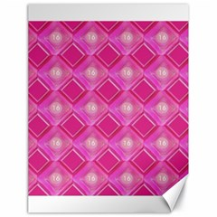 Pink Sweet Number 16 Diamonds Geometric Pattern Canvas 18  X 24