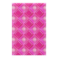 Pink Sweet Number 16 Diamonds Geometric Pattern Shower Curtain 48  X 72  (small)  by yoursparklingshop