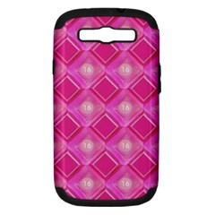 Pink Sweet Number 16 Diamonds Geometric Pattern Samsung Galaxy S Iii Hardshell Case (pc+silicone) by yoursparklingshop