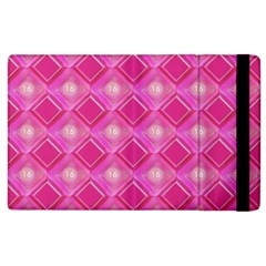 Pink Sweet Number 16 Diamonds Geometric Pattern Apple Ipad 3/4 Flip Case by yoursparklingshop