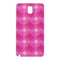 Pink Sweet Number 16 Diamonds Geometric Pattern Samsung Galaxy Note 3 N9005 Hardshell Back Case by yoursparklingshop