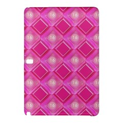 Pink Sweet Number 16 Diamonds Geometric Pattern Samsung Galaxy Tab Pro 10 1 Hardshell Case by yoursparklingshop