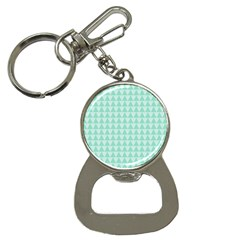 Mint Color Triangle Pattern Bottle Opener Key Chains by picsaspassion