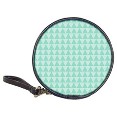 Mint Color Triangle Pattern Classic 20 Cd Wallets