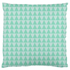 Mint Color Triangle Pattern Standard Flano Cushion Case (one Side) by picsaspassion