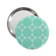 Mint Color Star   Triangle Pattern 2 25  Handbag Mirrors by picsaspassion
