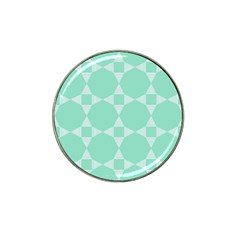 Mint Color Star   Triangle Pattern Hat Clip Ball Marker (10 Pack)