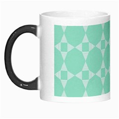 Mint Color Star   Triangle Pattern Morph Mugs by picsaspassion