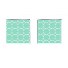 Mint Color Star   Triangle Pattern Cufflinks (square) by picsaspassion