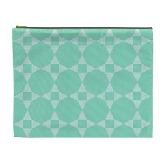 Mint Color Star   Triangle Pattern Cosmetic Bag (xl)
