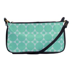 Mint Color Star   Triangle Pattern Shoulder Clutch Bags