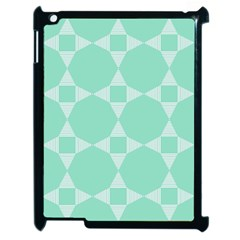 Mint Color Star   Triangle Pattern Apple Ipad 2 Case (black) by picsaspassion