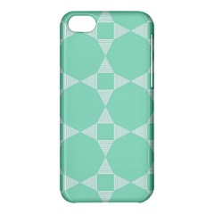 Mint Color Star   Triangle Pattern Apple Iphone 5c Hardshell Case by picsaspassion