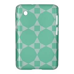 Mint Color Star   Triangle Pattern Samsung Galaxy Tab 2 (7 ) P3100 Hardshell Case  by picsaspassion