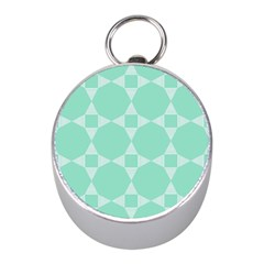 Mint Color Star   Triangle Pattern Mini Silver Compasses by picsaspassion
