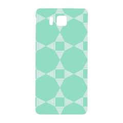 Mint Color Star   Triangle Pattern Samsung Galaxy Alpha Hardshell Back Case by picsaspassion