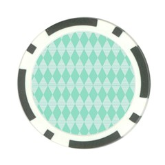 Mint Color Diamond Shape Pattern Poker Chip Card Guards by picsaspassion