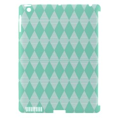 Mint Color Diamond Shape Pattern Apple Ipad 3/4 Hardshell Case (compatible With Smart Cover) by picsaspassion