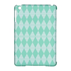 Mint Color Diamond Shape Pattern Apple Ipad Mini Hardshell Case (compatible With Smart Cover) by picsaspassion