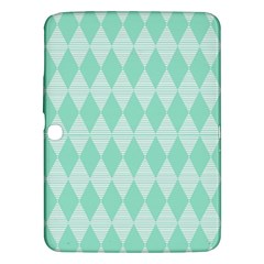 Mint Color Diamond Shape Pattern Samsung Galaxy Tab 3 (10 1 ) P5200 Hardshell Case  by picsaspassion