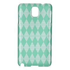Mint Color Diamond Shape Pattern Samsung Galaxy Note 3 N9005 Hardshell Case by picsaspassion