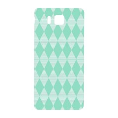 Mint Color Diamond Shape Pattern Samsung Galaxy Alpha Hardshell Back Case by picsaspassion
