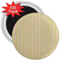 Summer Sand Color Pink Stripes 3  Magnets (100 Pack) by picsaspassion