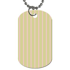 Summer Sand Color Pink Stripes Dog Tag (one Side) by picsaspassion