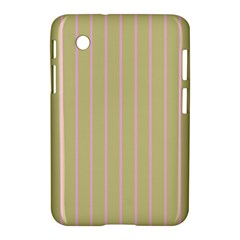 Summer Sand Color Pink Stripes Samsung Galaxy Tab 2 (7 ) P3100 Hardshell Case  by picsaspassion