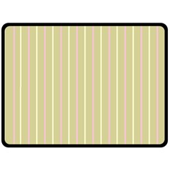 Summer Sand Color Pink And Yellow Stripes Fleece Blanket (large) by picsaspassion