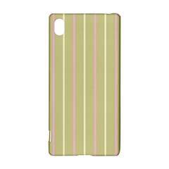 Summer Sand Color Pink And Yellow Stripes Sony Xperia Z3+ Hardshell Case by picsaspassion