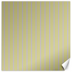 Summer Sand Color Lilac Stripes Canvas 16  X 16   by picsaspassion