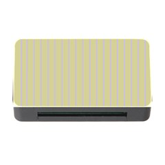 Summer Sand Color Lilac Stripes Memory Card Reader With Cf by picsaspassion