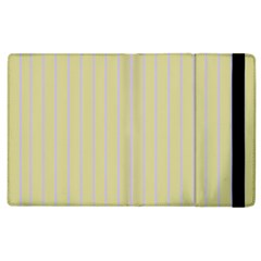 Summer Sand Color Lilac Stripes Apple Ipad 2 Flip Case by picsaspassion