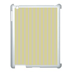 Summer Sand Color Lilac Stripes Apple Ipad 3/4 Case (white) by picsaspassion