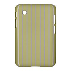 Summer Sand Color Lilac Stripes Samsung Galaxy Tab 2 (7 ) P3100 Hardshell Case  by picsaspassion