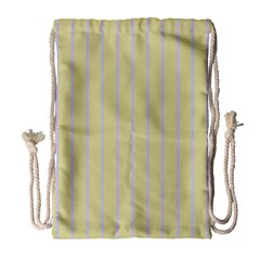 Summer Sand Color Lilac Stripes Drawstring Bag (large) by picsaspassion