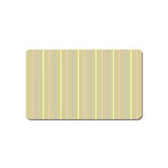 Summer Sand Color Lilac Pink Yellow Stripes Pattern Magnet (name Card)