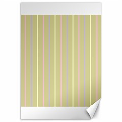 Summer Sand Color Lilac Pink Yellow Stripes Pattern Canvas 12  X 18   by picsaspassion