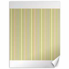 Summer Sand Color Lilac Pink Yellow Stripes Pattern Canvas 36  X 48