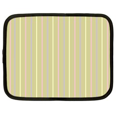 Summer Sand Color Lilac Pink Yellow Stripes Pattern Netbook Case (xxl)  by picsaspassion