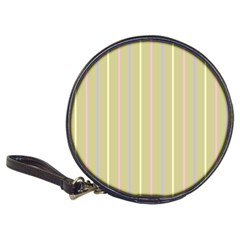 Summer Sand Color Lilac Pink Yellow Stripes Pattern Classic 20 Cd Wallets by picsaspassion