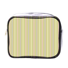 Summer Sand Color Lilac Pink Yellow Stripes Pattern Mini Toiletries Bags by picsaspassion
