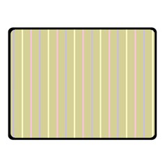 Summer Sand Color Lilac Pink Yellow Stripes Pattern Fleece Blanket (small) by picsaspassion