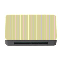 Summer Sand Color Lilac Pink Yellow Stripes Pattern Memory Card Reader With Cf by picsaspassion