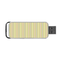 Summer Sand Color Lilac Pink Yellow Stripes Pattern Portable Usb Flash (two Sides) by picsaspassion