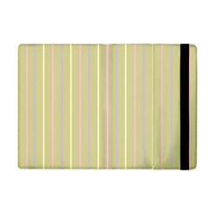 Summer Sand Color Lilac Pink Yellow Stripes Pattern Apple Ipad Mini Flip Case by picsaspassion